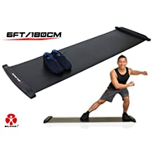 Balance 1 Slide Board-70 Inch(6FT)-Super Smooth Board with free Lycra booties!
