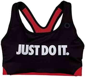 3a3a4c0ccc0f2 Nike Womens Pro Classic Swoosh Medium Support Padded Sports Bra Maroon Pink