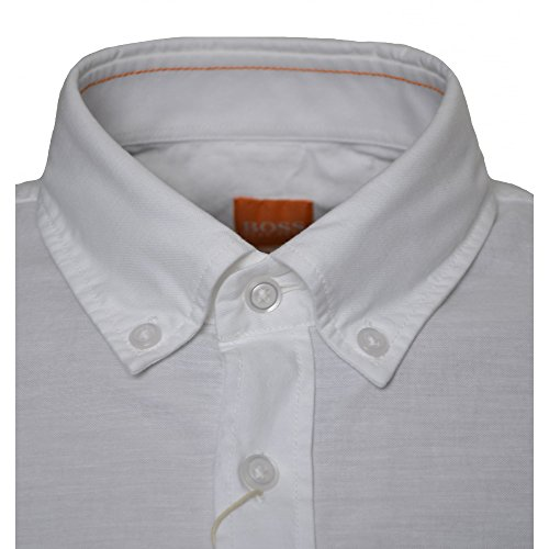 Hugo Boss Men's Hugo Boss Orange Men's Slim Fit White Epreppy Long Sleeve Shirt