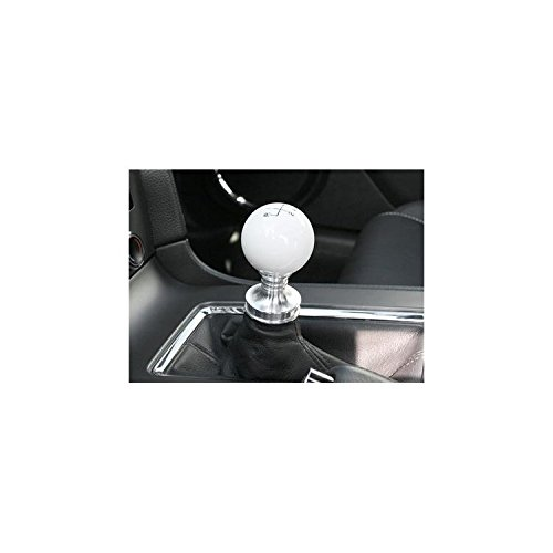 Body Kits Mustang Steeda (Steeda 555-1251 White Cue Ball Shifter Knob for Ford Mustang V8/V6 M/T)
