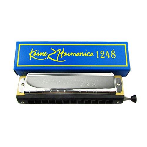 Kaine Chromatic Harmonica 12 Hole 24 Tone Chromonica Chrome
