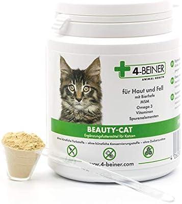 4 patas BEAUTY-CAT - Piel brillante, vitaminas para gatos con ...