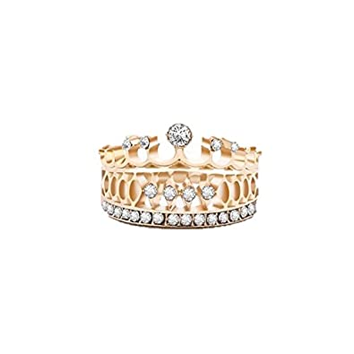 Buy Oomph Jewellery Gold Plated Zirconia Crown Motif Ring