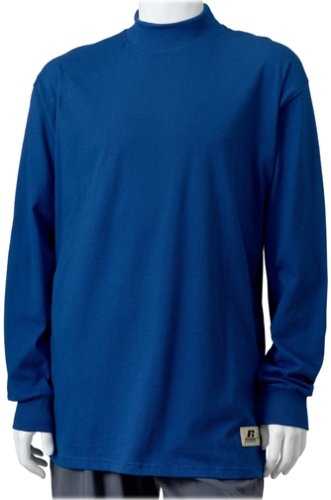Russell Athletic Men's Pro Cotton Mock Turtleneck,Royal,Large - Russell Pro Cotton