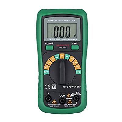 Digital Multimeter,LESHP Auto-Ranging Multimeter AC Voltage Detector Portable Amp Ohm Volt Test Meter Multi Tester w/ Diode and Continuity Test Scanners with Backlight LCD Display