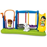 Fisher-Price Little People Jump & Play Swing Set