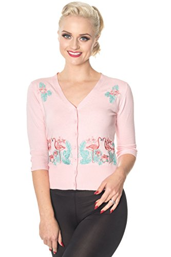 Banned-Face-To-Face-Vintage-Retro-Cardigan-Pink-Blue-or-Black