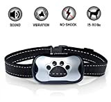 Avimera No Bark Dog Training Silver Collar [Upgraded] Intelligent NO Shock Humanely Stops Barking with Sound & Vibration for Small, Medium & Large Dogs