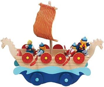Goki Wooden Vikings Ship Tuva