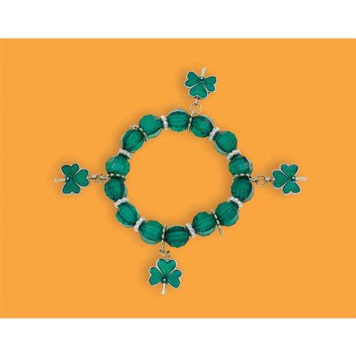 Amscan Shamrockin' St. Patrick's Day Party Plastic Stretch Bracelet (1 Pack), 2 3/4