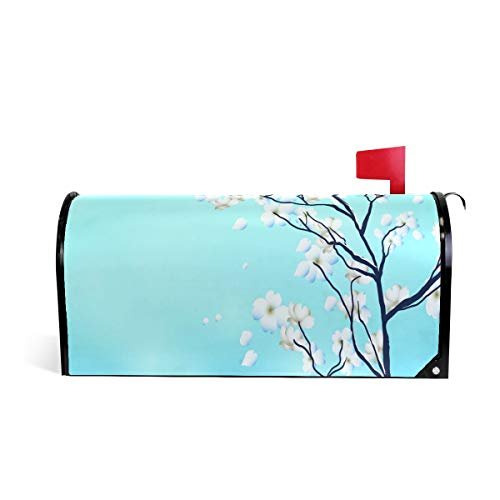 Dogwood Tree Print Mailbox Covers Magnetic Standard Size Mail Boxes Makeover Mail Wraps Cover Letter Post Box