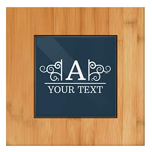 Personalized Kitchen Decor Custom Initial & Name Wedding Gift Tile and Wood Personalized Trivet