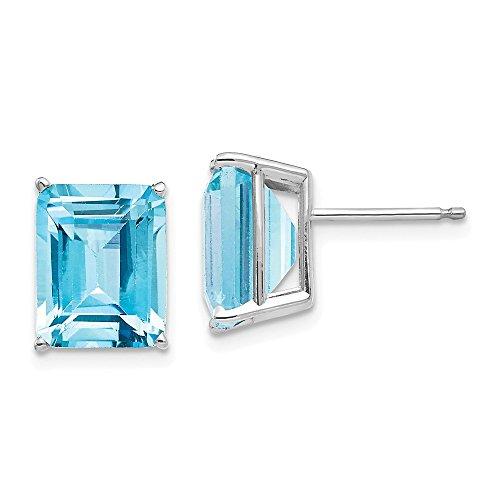 m Faux Emerald Green Cut Blue Topaz Earrings (Blue Topaz Faux Earrings)