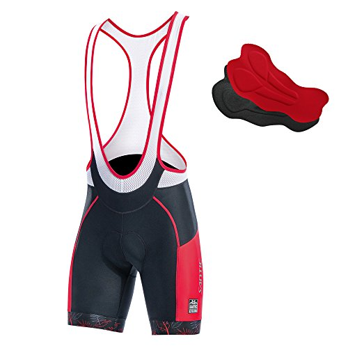 Santic Cycling Bib Shorts Men Pro Gel Padded Bike Pants with Color-Blocking