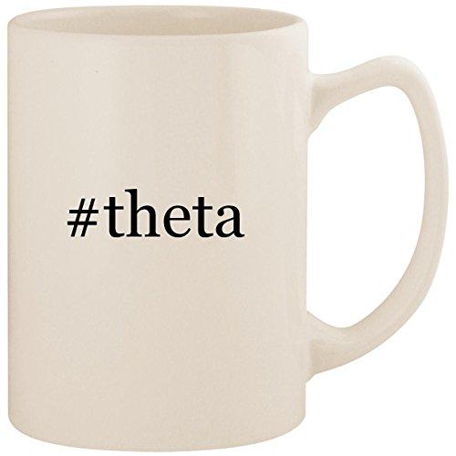 - #theta - White Hashtag 14oz Ceramic Statesman Coffee Mug Cup