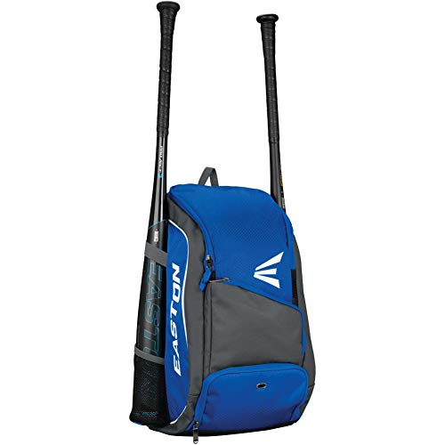 EASTON GAME READY Bat & Equipment Backpack Bag | Baseball Softball | 2020 | Royal | 2 Bat Pockets | Vented Main Compartment | Vented Shoe Pocket | Zippered Valuables Pocket | Fence Hook