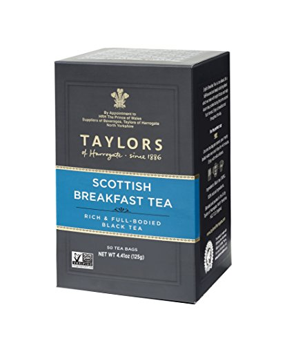 Taylors of Harrogate Scottish Breakfast, 50 Teabags (Gifts Food Breakfast)