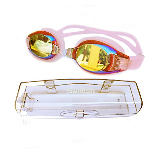 Sailfish Best Kids Swim Goggles   Anti Fog   Mirror Coating   Latex Free   Easy Adjustable Strap   Clear Vision   No Leak Design   Free Protective Case   For Kids And Early Teens