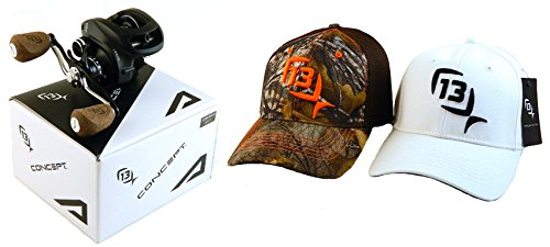 bundle-13-fishing-concept-a-a66-rh-661-right-hand-baitcast-fishing-reel-with-2-l-xl-hats