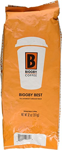 Biggbys Biggby Finest 32 Oz Bag, Whole Bean, Smooth Mellow Blend