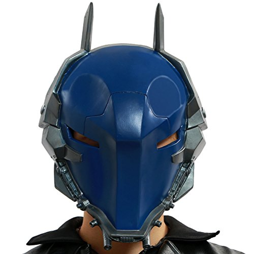 Dark Helmet Halloween Costumes (XCOSER® Arkham Knight Helmet Villain Mask Props for Adult Halloween Costume PVC Dark Blue)