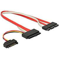 CNCT SFF-8639 SATA 3.2 Express 18pin (7+7+4) & 15Pin Power to SFF-8482 SAS Express 29pin Data Raid Cable - 0.5M