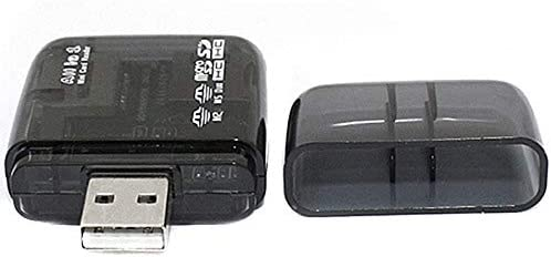YOUKITTY Black USB 2.0 Flash Memory Card Reader All-in-One SD//SDHC Micro-SD//TF MS-Duo M2 Memory Card Readers /& Adapters