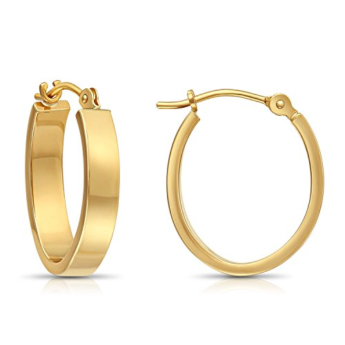 Flat Hoop Earrings, 0.7