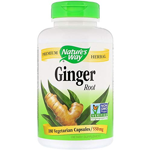 Nature s Way Ginger Root 550mg, 180 Capsules Pack of 2