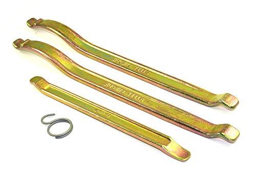 Buzzetti –  Kit di leve professionali per smontare pneumatici 2 x 350 mm, 1 x 240 mm. 1x 240 mm.