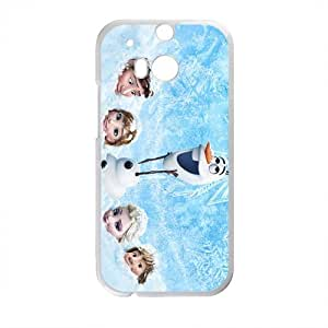 New Style Custom Picture Frozen Princess Elsa Anna Kristoff Olaf Hans Cell Phone Case for HTC One M8