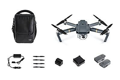 DJI Mavic Pro Collapsible Quadcopter Premium Combo: Includes DJI Shoulder Bag, 5 Intelligent Flight Batteries, Car Charger, Charging Hub, Spare Propellers, 2x SanDisk 64GB MicroSD Cards and more...