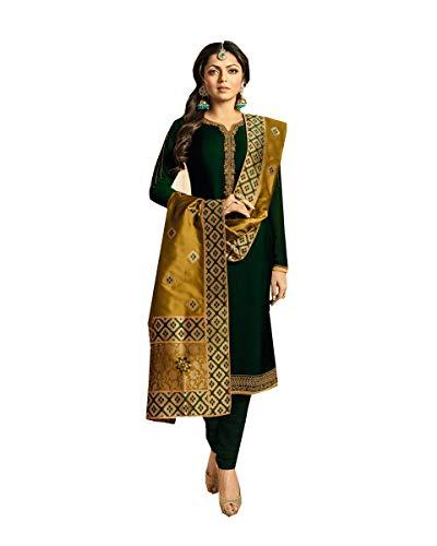 Delisa Indian/Pakistani Fashion Salwar Kameez for Women 02 (Green 2, LARGE-42)