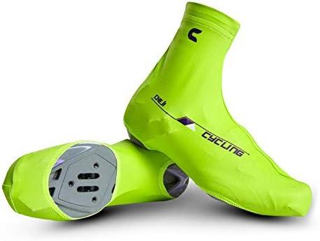 シューズカバー マウンテン自転車ロック春と夏のマウンテンバイクの靴の摩擦のためと滑り止め効果を高めます 防風性と防水性 (Color : Red, Size : L)