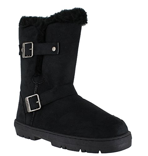 Ella Womens Boots Faux Fur Winter Snow Warm Fashion Boots - Massive Selection Alex - Black JfhzZ