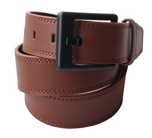 Ferrer Men's Leather Metal-Free Belt: Brown: 42