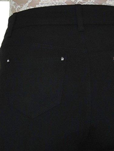 Haute Stretch avec Noir Jersey Ice Jeans 38 pais Taille 52 BqwggT