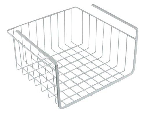 Southern Homewares White Wire Under Shelf Storage Organization Wrap Rack Basket, 11