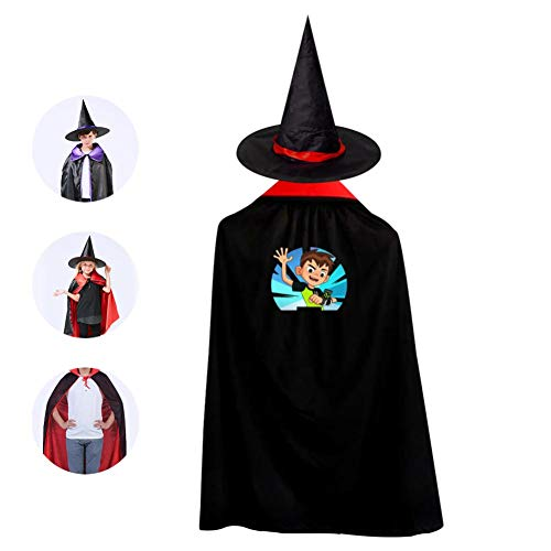 DIY Ben-10 Game Costumes 3D Printed Party Dress Up Cape Reversible with Wizard Witch Hat
