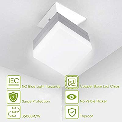 LED Garage Light, 30W Square Light Bulbs(150-200W Equivalent), E26 Screw in Light Lamp 3500LM, 6500K for Garage, Basement, Factory, Home Indoor Outdoor, Ceiling Lighting Fixture(Cold White)