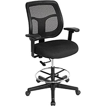 Amazoncom Office Star Deluxe Mesh Back Drafting Chair with 20