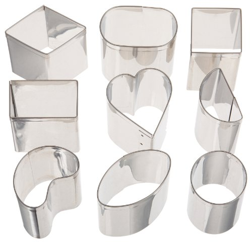 Ateco 9 pc Petit Four Stainless Steel Cutter - Le Four Petit