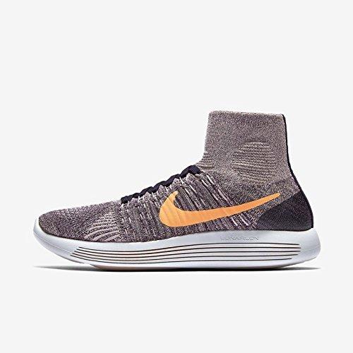 Nike Vrouwen Lunarepic Flyknit High-top Hardloopschoen Paars Dynastie / Pruim Fog / Top Wit / Helder Mango