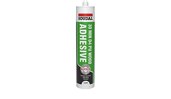 Soudal D4 - Pegamento adhesivo de madera de poliuretano (300 ml, tubo de 30 minutos): Amazon.es: Bricolaje y herramientas