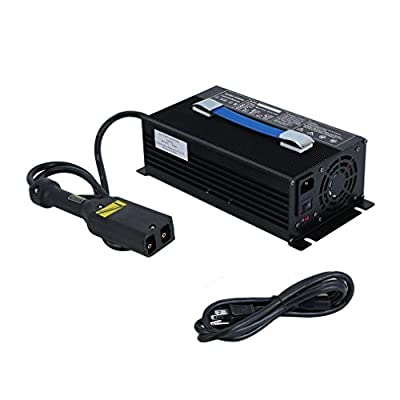 CATUO Golf Cart Battery Charger 36 Volt 18 Amp D36 for Ez-go Club Car, Powerwise Style Plug, with 2 LED Lights