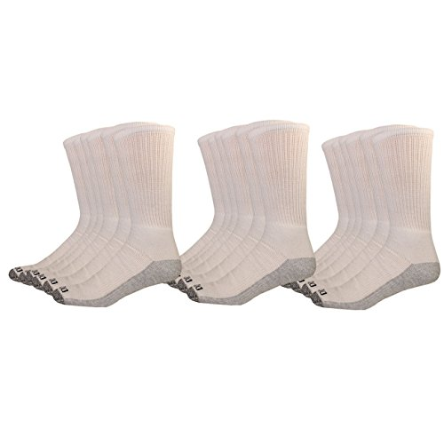 - Dickies Men's Multi-Pack Dri-Tech Moisture Control Crew Socks, White (18, Shoe 6-12 Size: 10-13)