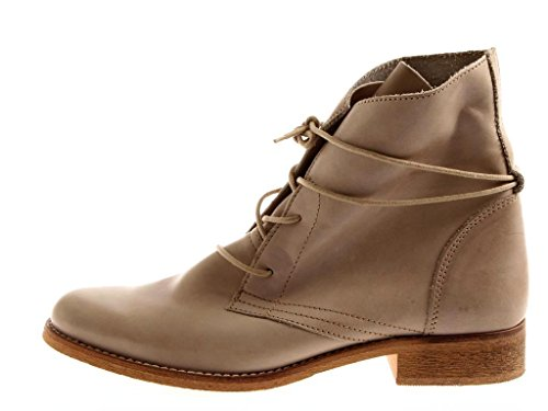Isabelle Stiefelette Damenschuhe Schnürboots Military Schuhe 7486 Taupe