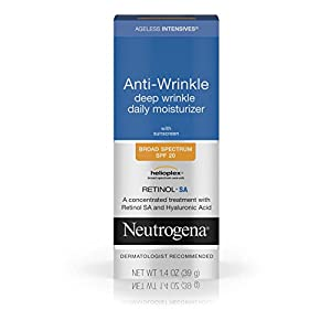 Neutrogena Ageless Intensives Anti-Wrinkle Deep Wrinkle Daily Moisturizer With Retinol, Broad Spectrum Spf 20 Sunscreen, 1.4 Oz.