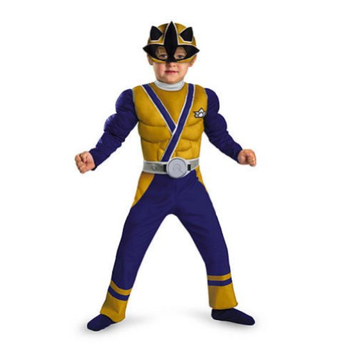 Gold Ranger Samurai Muscle Toddler Costume - Toddler Small - Samurai Ranger Costume