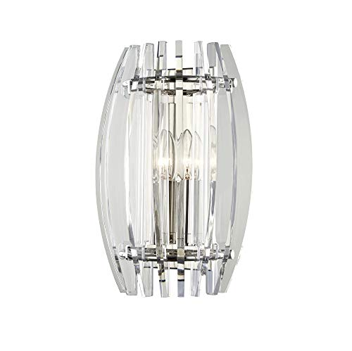 Hudson Valley Lighting 5000-PN Freeze Wall Sconce, Polished Nickel